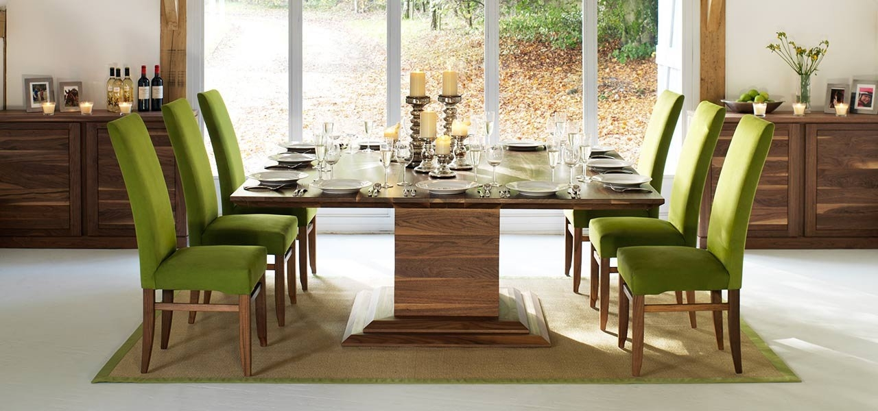 Square Dining Tables In Solid Oak & Walnut, Extending Square Tables Throughout 8 Seat Dining Tables (Image 24 of 25)
