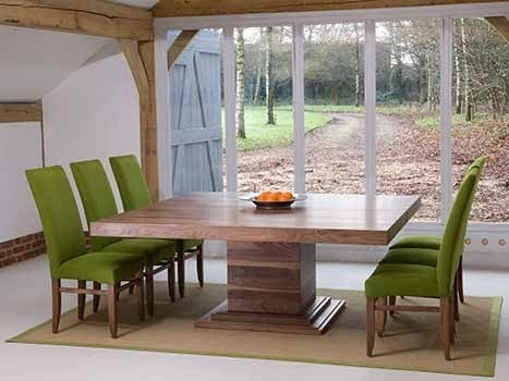 Square Dining Tables In Solid Oak & Walnut, Extending Square Tables With Regard To Square Extendable Dining Tables And Chairs (Photo 2 of 25)