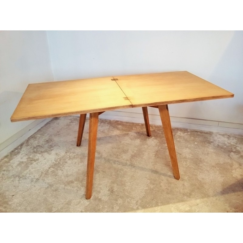 Square Extendable Dining Table In Solid Oak – 1950S – Design Market Within Square Extendable Dining Tables (View 19 of 25)