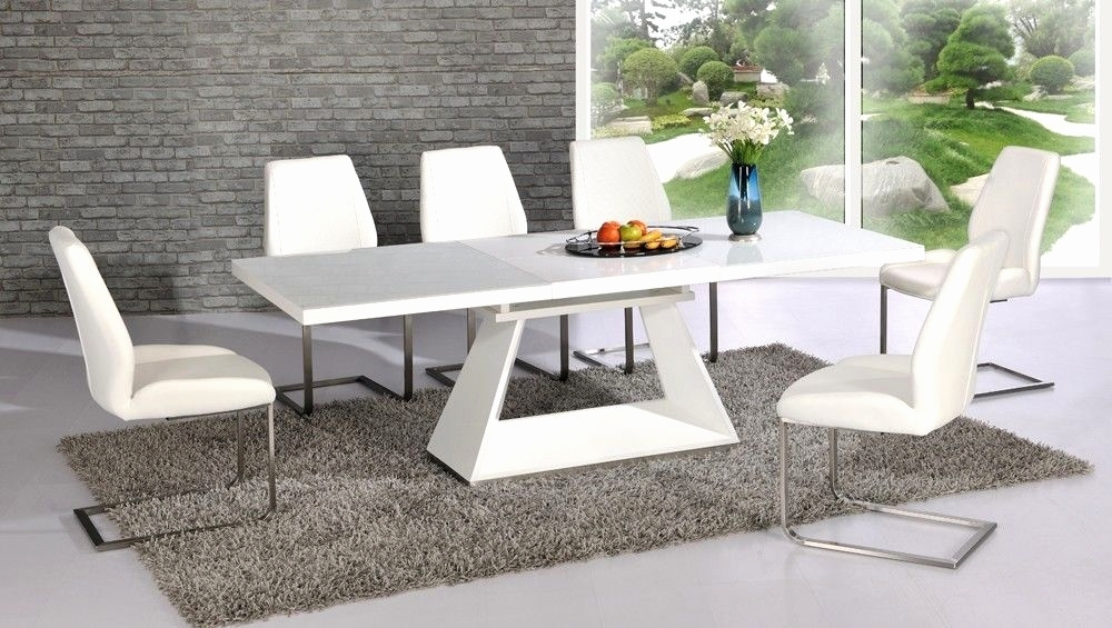 Square Extending Dining Table And Chairs Inspirational 18 Beautiful In White Extending Dining Tables And Chairs (View 5 of 25)