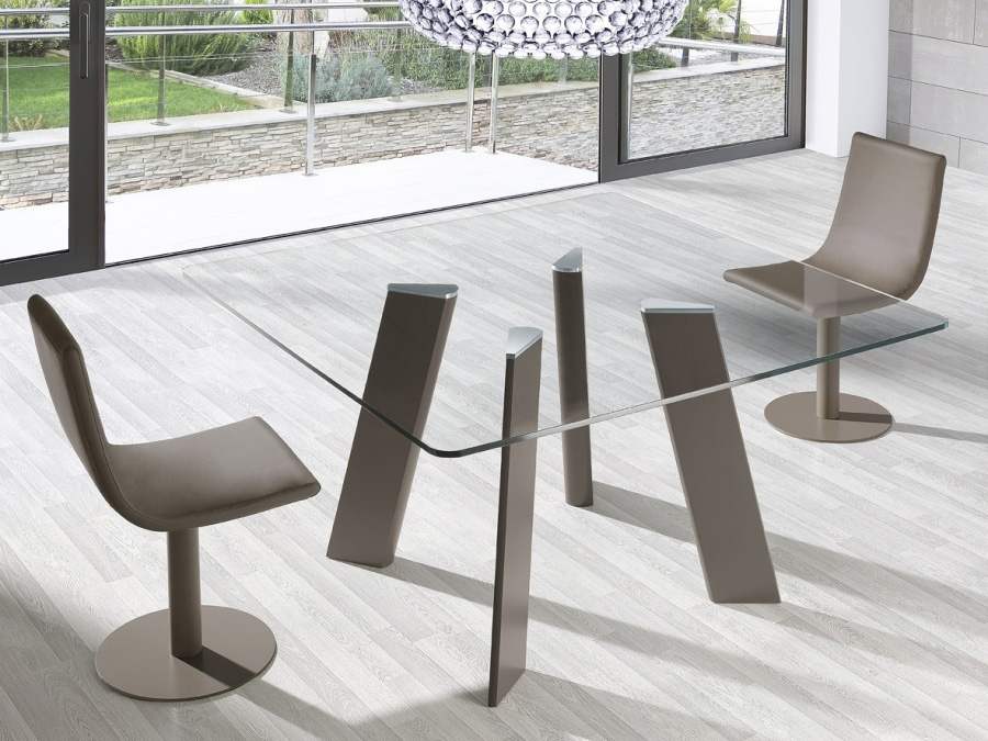 Square Glass Dining Table With Regard To Glass Dining Tables (Image 19 of 25)