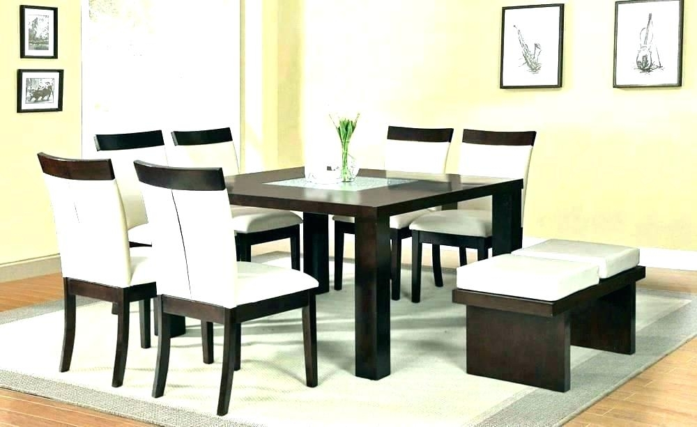 Square Kitchen Table With 8 Chairs 8 Chair Square Dining Table In Square Dining Tables (Image 19 of 25)