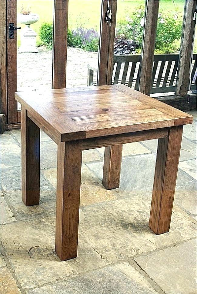 Square Oak Dining Tabl Square Oak Dining Table For 4 2018 Round In Square Oak Dining Tables (Image 20 of 25)