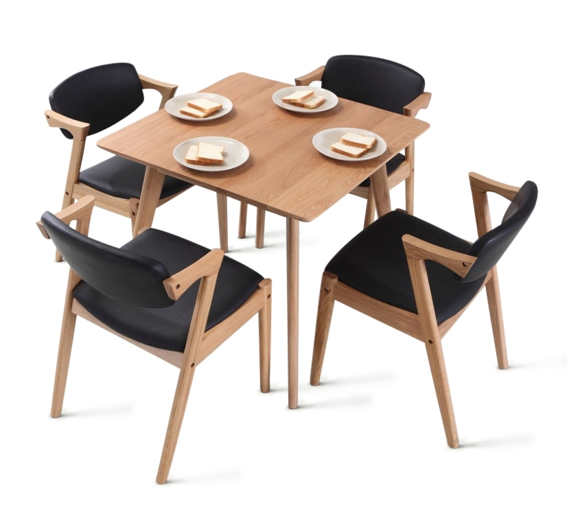 Square Scandinavian Dining Table | Online Furniture Singapore | Home in Danish Style Dining Tables