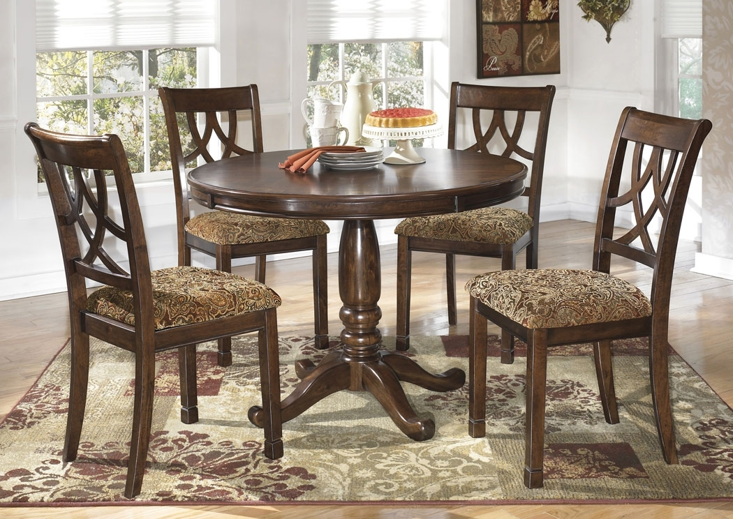 Featured Photo of Craftsman 5 Piece Round Dining Sets With Uph Side Chairs