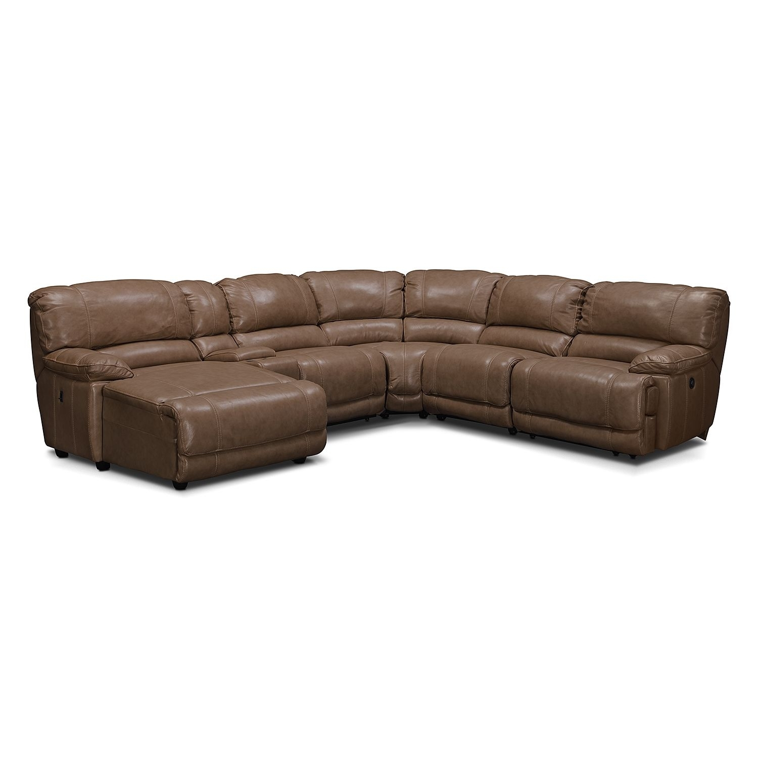 St. Malo 6-Piece Power Reclining Sectional With Left-Facing Chaise regarding Kristen Silver Grey 6 Piece Power Reclining Sectionals