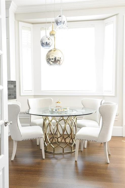 Staggered Dining Table Pendant Design Ideas With Regard To Glass Dining Tables White Chairs (Image 24 of 25)