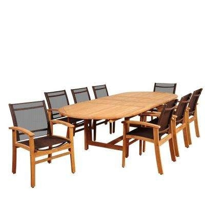 Standard Dining Height – Sling Patio Furniture – Teak – Patio Dining Intended For Outdoor Brasilia Teak High Dining Tables (View 6 of 25)