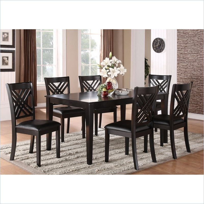 Standard Furniture Brooklyn 7 Piece Rectangular Dining Table Set In Throughout Lindy Espresso Rectangle Dining Tables (View 2 of 25)