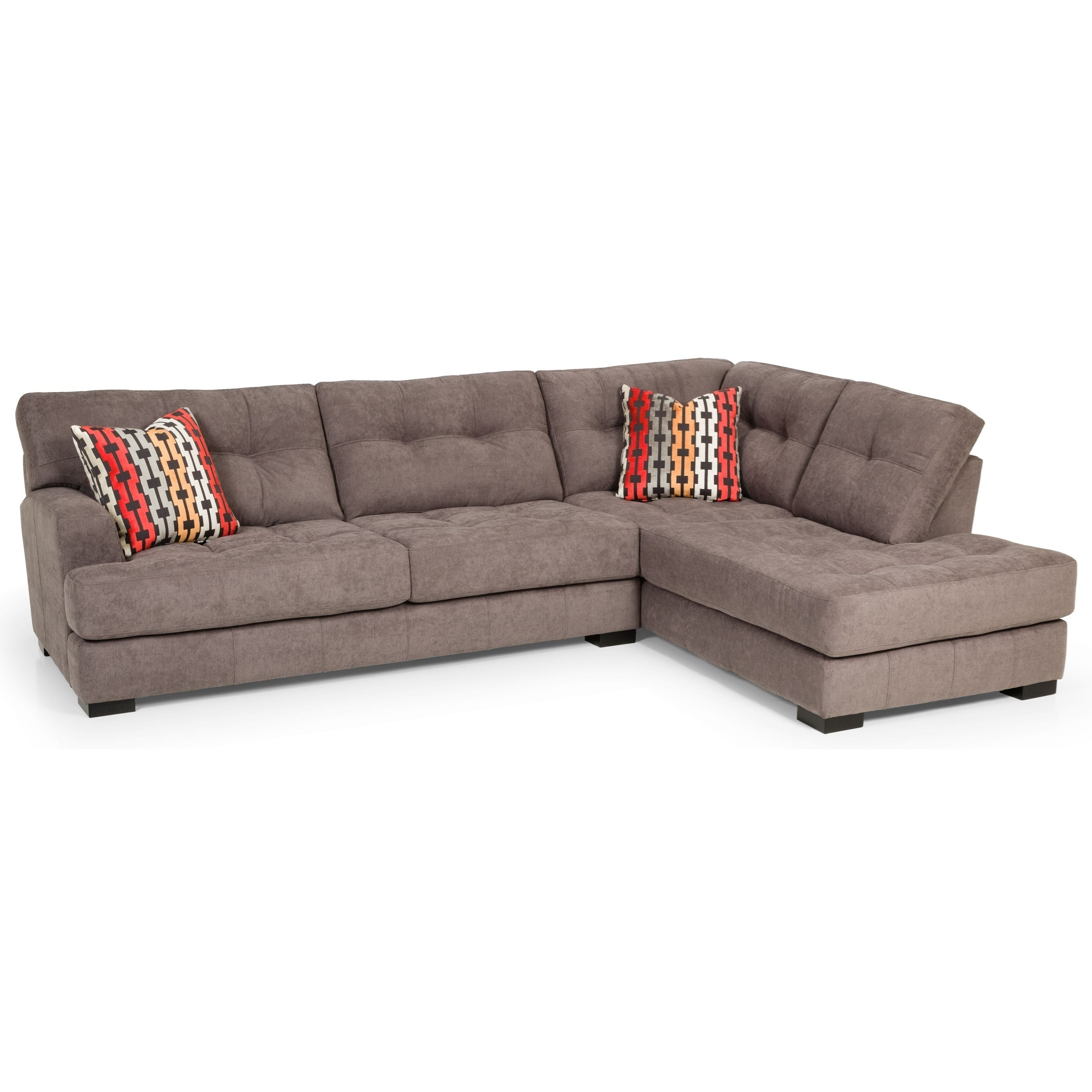 Stanton 308 Casual Two Piece Sectional Sofa | Gallery Furniture Intended For Aurora 2 Piece Sectionals (Image 23 of 25)