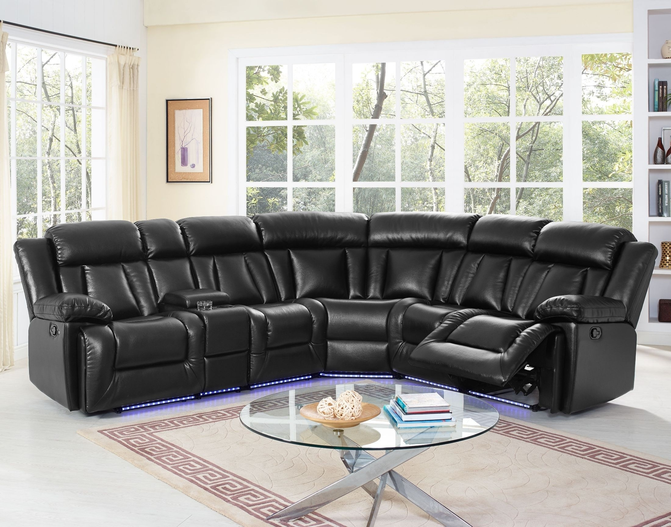 Starlight Premier Black Sectional From New Classic | Coleman Furniture Pertaining To Turdur 2 Piece Sectionals With Laf Loveseat (Image 22 of 25)