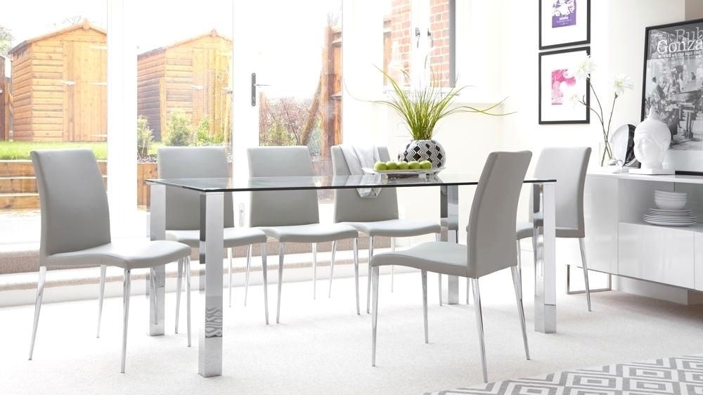 Startling Chrome Glass Dining Table Chrome Dining Table Rectangular With Regard To Chrome Glass Dining Tables (View 7 of 25)