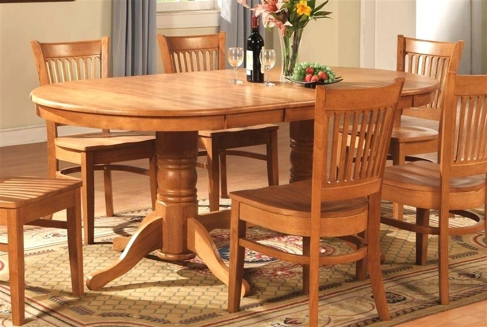 Startling Oval Oak Dining Table Chairs Creative Of Oak Dining Room Pertaining To Oak Dining Tables Sets (Image 24 of 25)