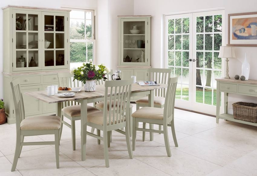 Statement Furniture – Florence Sage Green Matt Painted & Washed For Green Dining Tables (View 8 of 25)