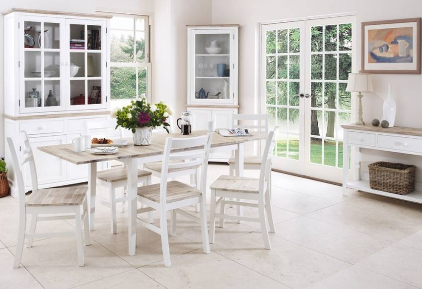 Statement Furniture – Florence White Matt Painted & Washed Acacia In Florence Dining Tables (Image 25 of 25)