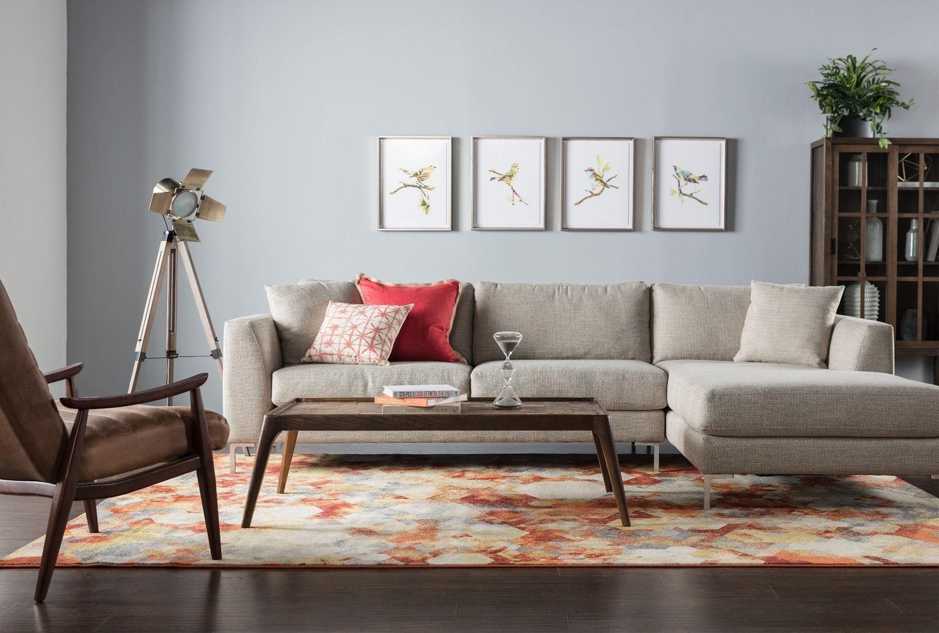 Stella 2 Piece Condo Sectional W/raf Chaise | Living Room With Regard To Aquarius Dark Grey 2 Piece Sectionals With Raf Chaise (View 15 of 25)
