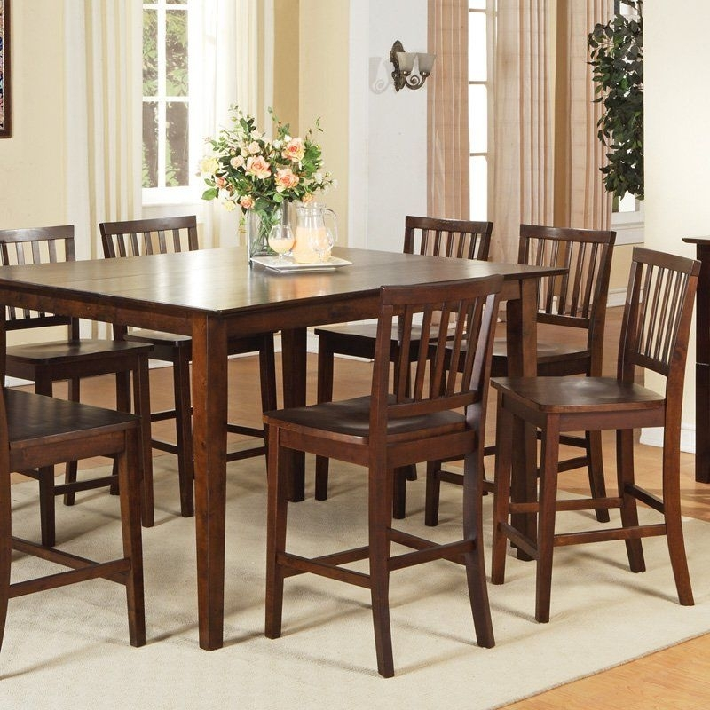 Steve Silver Branson 9 Piece Counter Height Dining Table Set | From In Craftsman 9 Piece Extension Dining Sets (View 20 of 25)