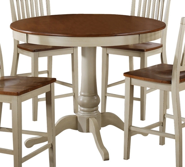 Steve Silver Candice 48 Inch Round Counter Height Table In Oak And With Regard To Candice Ii Round Dining Tables (Image 22 of 25)