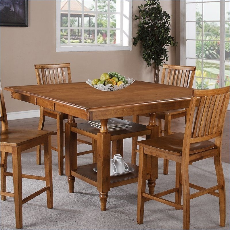 Steve Silver Company Candice Counter Height W/butterfly Leaf Oak Regarding Candice Ii 7 Piece Extension Rectangle Dining Sets (Image 22 of 25)