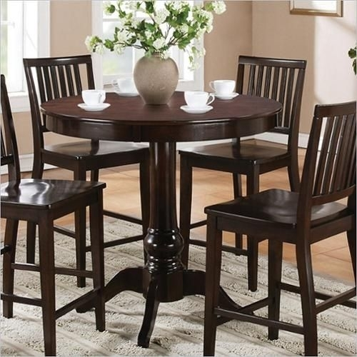 Steve Silver Company Candice Round Counter Height Dining Table In With Candice Ii 7 Piece Extension Rectangle Dining Sets (Image 23 of 25)