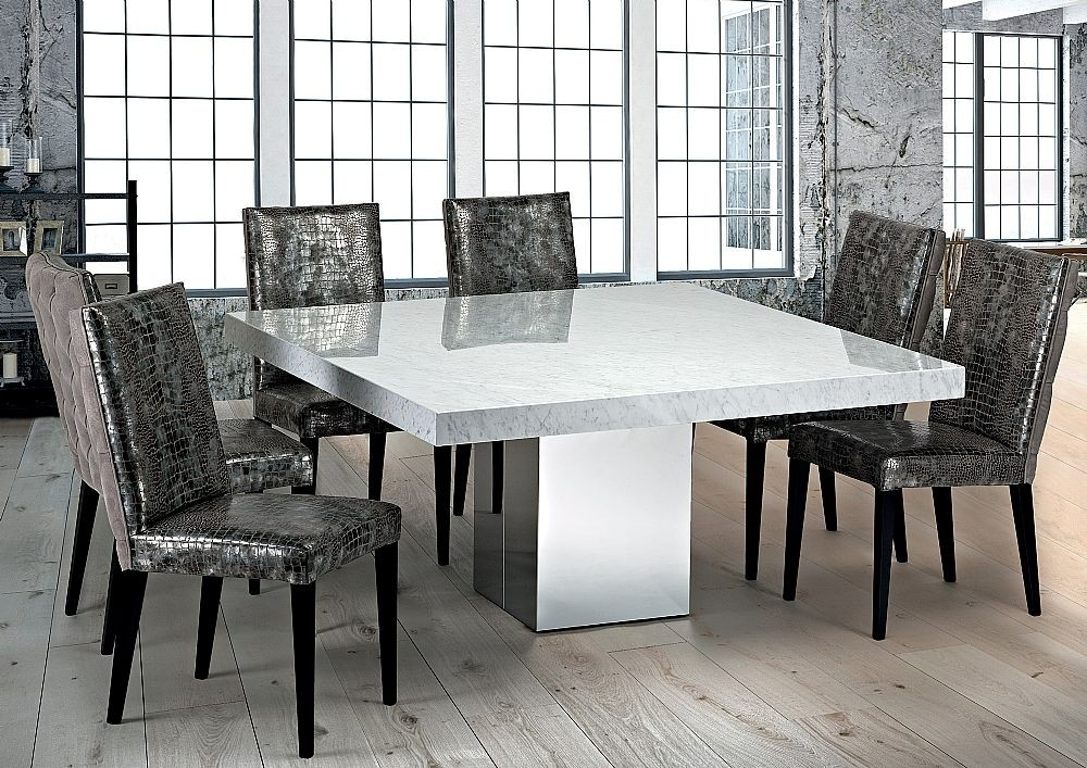 Stone International – 3266/sq – Dining Table – Square – Cortina In Stone Dining Tables (View 9 of 25)