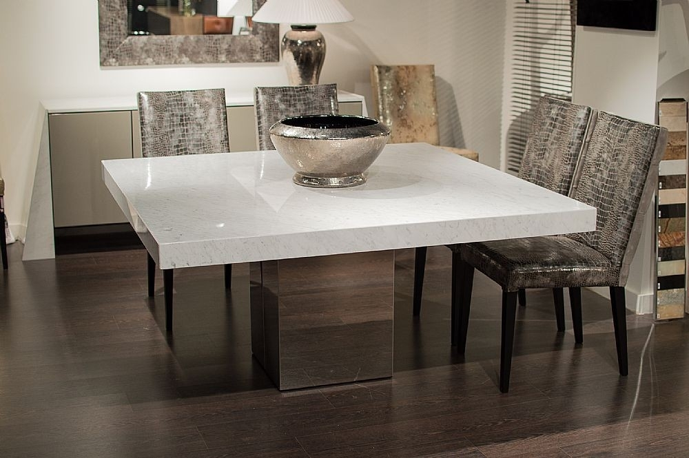Stone International – 3266/sq – Dining Table – Square – Cortina With Regard To Stone Dining Tables (View 11 of 25)