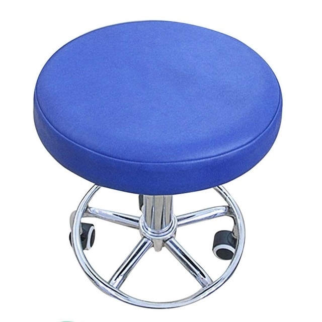 Stool Cover Faux Leather Round Chair Cover Dental Chair Cover Inside Purple Faux Leather Dining Chairs (View 19 of 25)