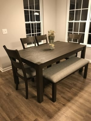 Stratford Hayden Brown Wire Brush Dining Table | Big Lots Throughout Hayden Dining Tables (Image 25 of 25)