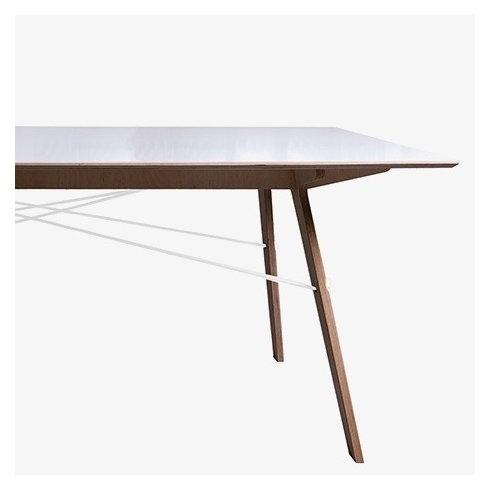 Stuckwerk White Birch Dining Table | Multiplex Top With Oiled Edge In Birch Dining Tables (Image 24 of 25)