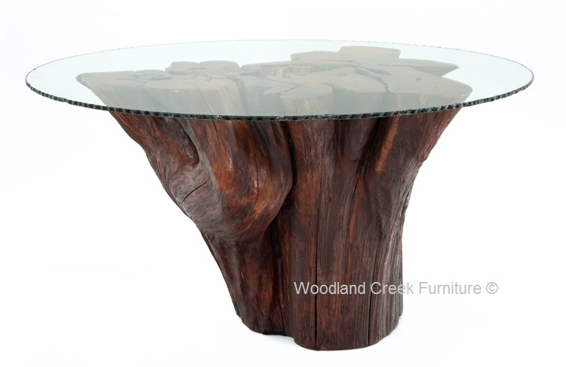 Stump Table, Log Table, Tree Base Table, Rustic Furniture Regarding Tree Dining Tables (View 23 of 25)