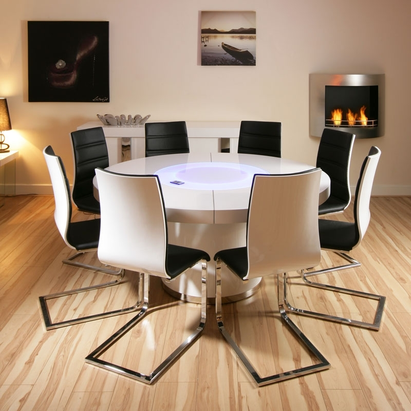 Stunning Round Dining Table For 8 Large Round Dining Table Seats 10 Intended For Dining Tables And 8 Chairs (Image 23 of 25)