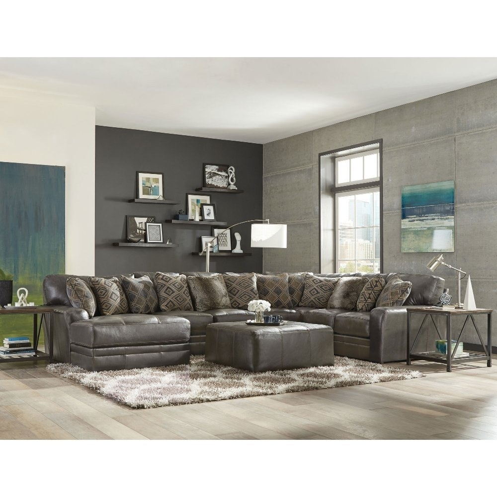 Stylish Casual Classic Steel Piece Sectional Sofa Denali Rc Throughout Tenny Dark Grey 2 Piece Left Facing Chaise Sectionals With 2 Headrest (View 22 of 25)