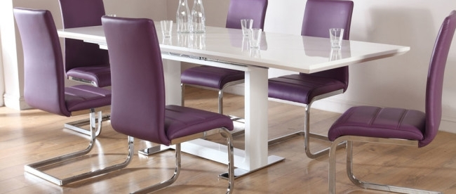 Stylish Dining Table Sets For Dining Room » Inoutinterior For Dining Tables And Purple Chairs (Image 22 of 25)