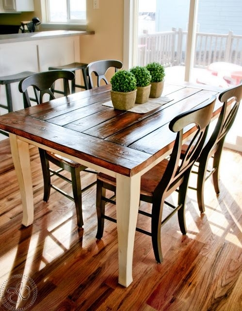 Stylish Farmhouse Dining Tables–Airily Romantic Or Casual And Cozy In Farm Dining Tables (Image 21 of 25)