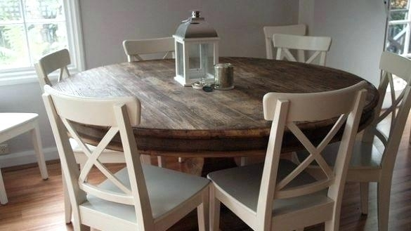 Stylish Round Dining Table For 6 And Chairs On Glass With Amazing Inside Round 6 Person Dining Tables (View 5 of 25)