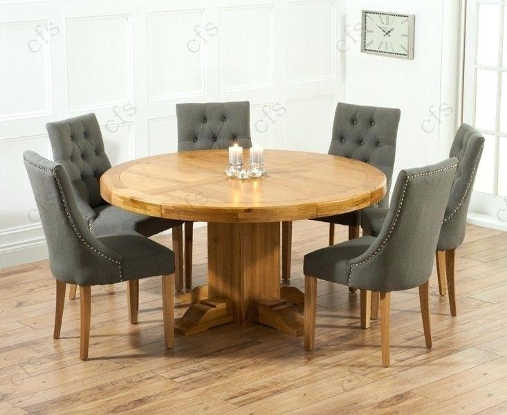 Stylish Round Dining Table For 6 And Chairs On Glass With Amazing Within 6 Seater Round Dining Tables (Image 23 of 25)
