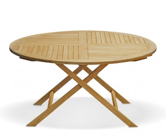 Suffolk 5Ft Round Folding Outdoor Dining Table –  (Image 24 of 25)