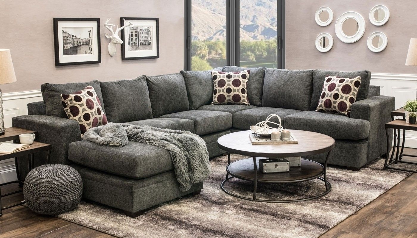 Sullivan Flannel Sectional | Sofa Ideas | Pinterest | Sofa, Living Inside Turdur 2 Piece Sectionals With Laf Loveseat (Image 23 of 25)