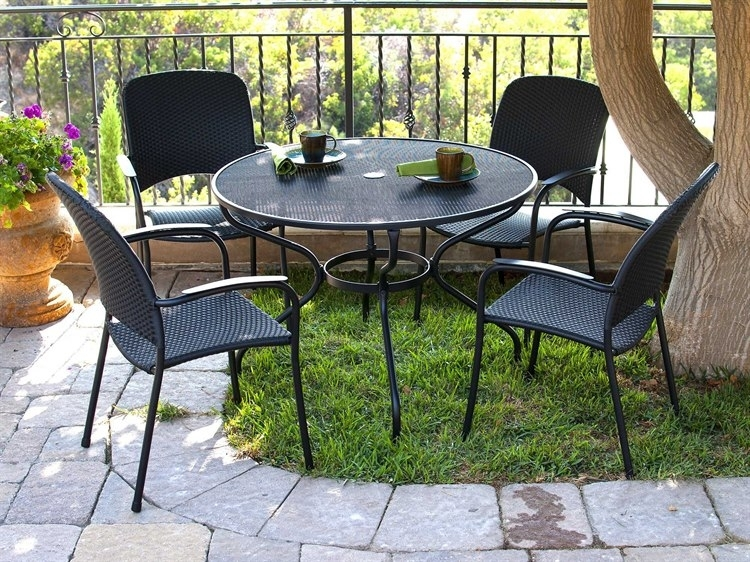 Sunvilla Monaco Wicker Dining Set | Monacodinset3 Inside Monaco Dining Sets (View 23 of 25)