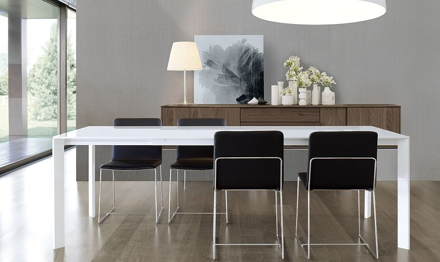 Super Sleek Dining Table Brings Minimalism To Your Home Pertaining To Sleek Dining Tables (Image 23 of 25)