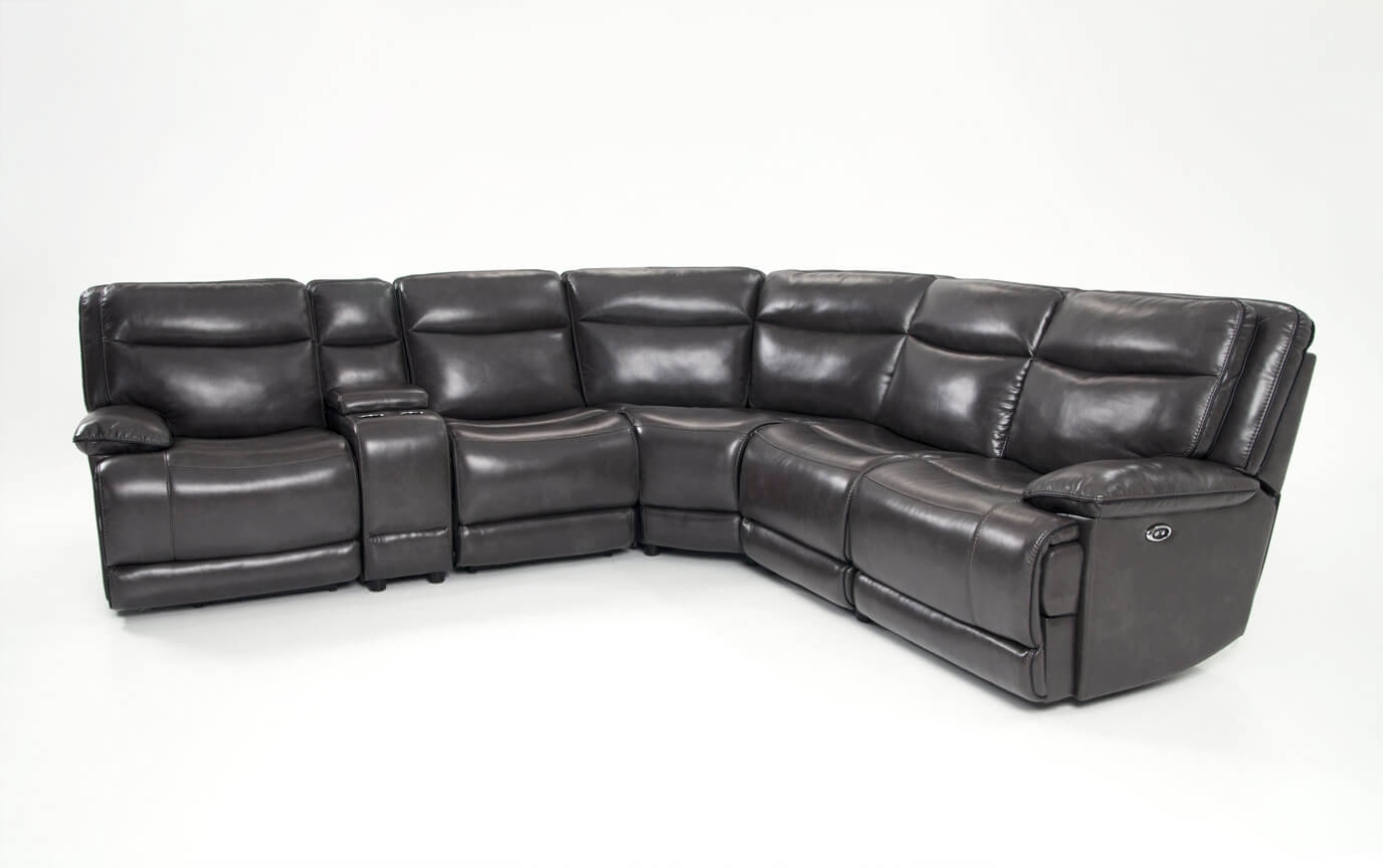 Supernova Power Reclining 6 Piece Sectional | Bob's Discount Furniture Inside Cosmos Grey 2 Piece Sectionals With Laf Chaise (Image 22 of 25)