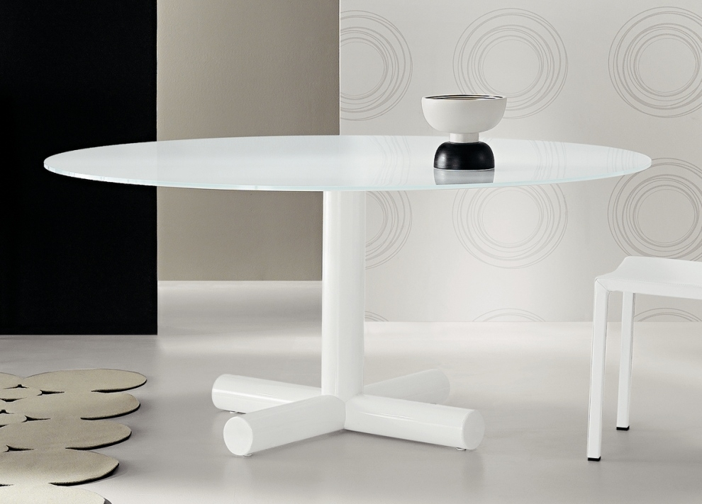 Surfer Round Dining Table | Contemporary Round Dining Tables | Bonaldo Inside White Circle Dining Tables (Image 17 of 25)