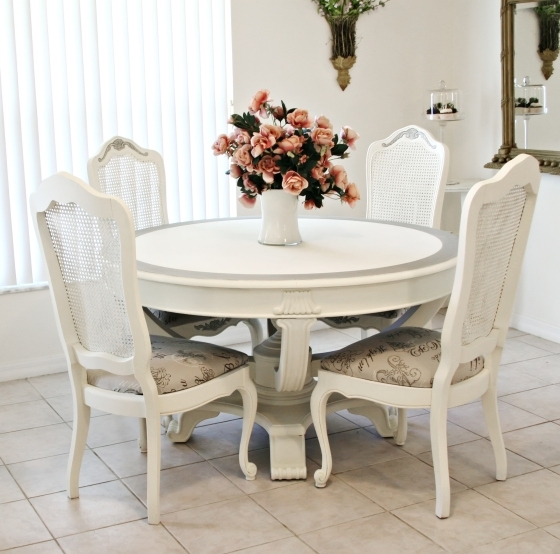 Surprising Ideas Shabby Chic Cream Dining Table And Chairs 88 Intended For Shabby Chic Cream Dining Tables And Chairs (Image 23 of 25)