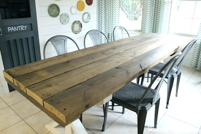 Surprising Rustic Style Kitchen Tables Farmhouse Table Picnic Bench Pertaining To Indoor Picnic Style Dining Tables (Image 25 of 25)