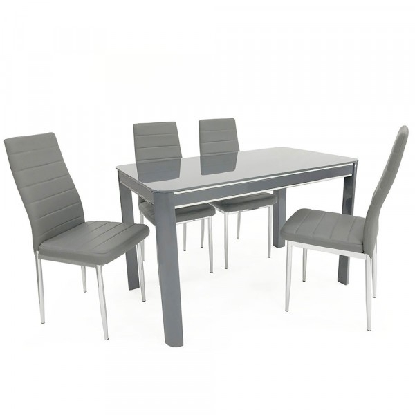 Sweet Slim 70 Cm Wide Narrow Grey Gloss Dining Table Intended For Grey Gloss Dining Tables (View 5 of 25)