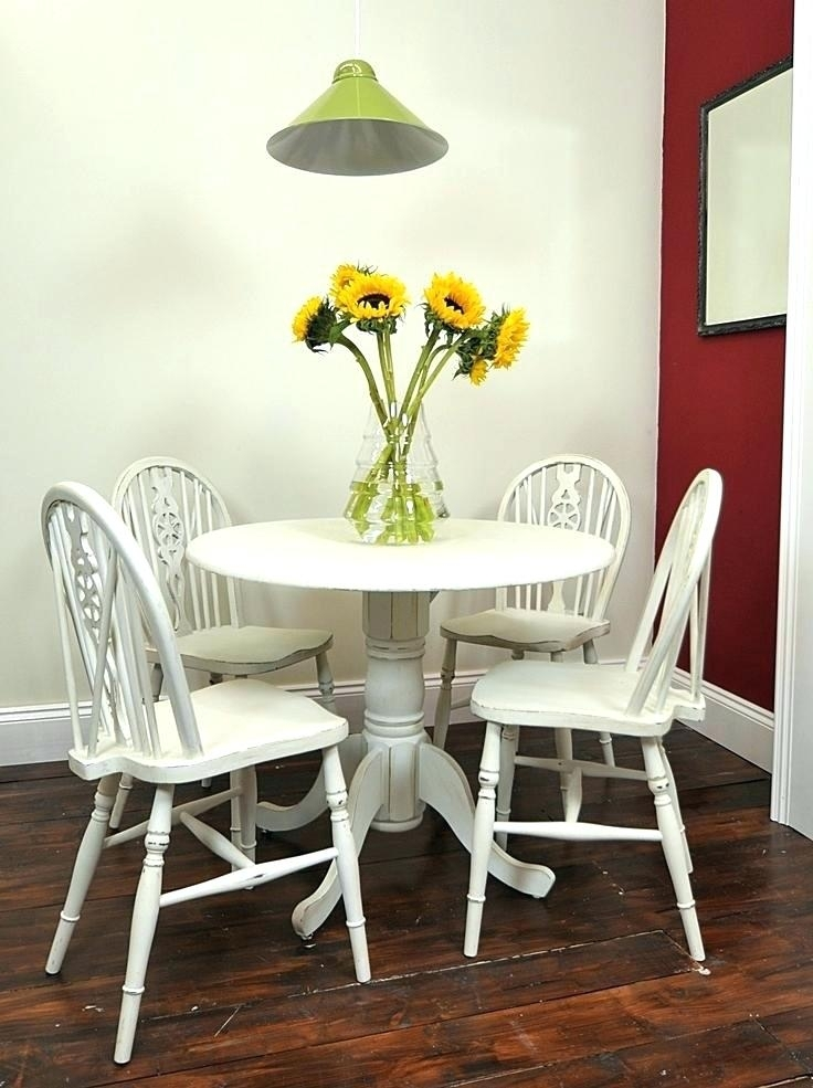Swingeing Black And White Dining Room Chairs Round White Dining Within Small Round White Dining Tables (Image 21 of 25)