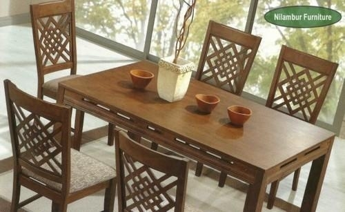 Swiss Wooden Dining Table Set, Dining Series   Thammanam, Kochi With Leon Dining Tables (Image 25 of 25)