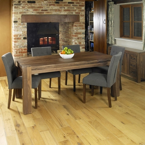 Sydney Rustic Garden Furniture 6 Seater Round Dining Table Chair Set For Walnut Dining Tables And Chairs (View 20 of 25)