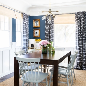 Sylvia's Makeover: Dining Room – Emily Henderson Intended For Helms 5 Piece Round Dining Sets With Side Chairs (View 15 of 25)