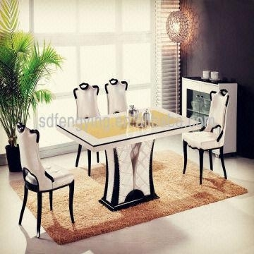 T 1303 Italian Dining Room Tables/ Comtemporary Modern Cheap Marble Throughout Marble Dining Tables Sets (Image 23 of 25)